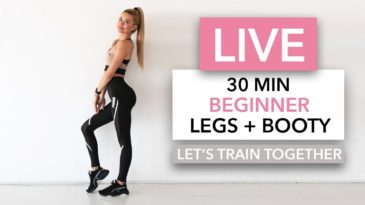 30 MIN Legs & Booty Workout Video with Pamela Reif / Equipment: No Equipment needed / Bginner friendly / Booty Activation / Leg Workout