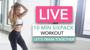 10 MIN Sixpack Workout Video with Pamela Reif / No Equipment / Beginner friendly / Abs / Core stability / upper abs / lower abs / side abs