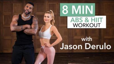 8 MIN Ab & HIIT Workout Video with Pamela Reif and Jason Derulo / No Equipment needed / Advanced / Core stability / abs / legs / toning