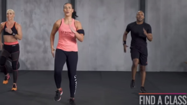This Intense Cardio/Toning Workout from STRONG Nation is a 20-minute demo video. It´s a preview of a 60min live class, where you´ll find on their homepage. Your lead instructor/trainer is Ai Lee. Strong by Zumba – burn fat, build muscle, tone abs, legs and glutes.