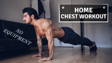 Chest exercises that can be performedat home or anywhere you go without any gym equipment at all.