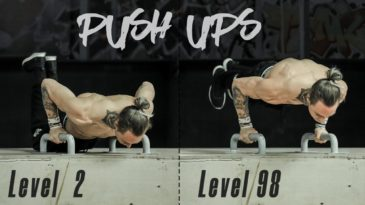 a chest workout programm in which Daniels is showcasing more than 20 different push up variations. Beginning with the easiest and finishing with the hardest push-up exercise.