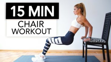 5 min extreme Full Body Workout Video / Household Equipment needed (Chair) / Not for beginner / Abs / Core Strength / Arms / Back / Chest / Legs