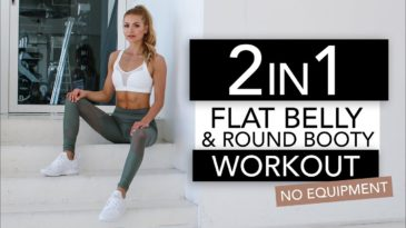 20 MIN Flat Belly & Booty Workout Video with Pamela Reif / No Equipment needed / Super Intense / Advanced / No Excuses / Abs / Booty